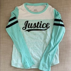 Worn once justice shirt